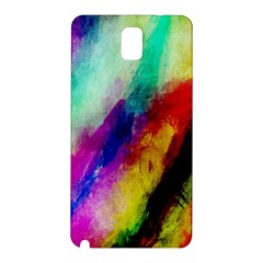 Colorful Abstract Paint Splats Background Samsung Galaxy Note 3 N9005 Hardshell Back Case by Simbadda