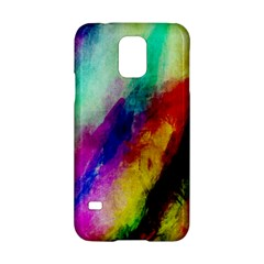 Colorful Abstract Paint Splats Background Samsung Galaxy S5 Hardshell Case  by Simbadda