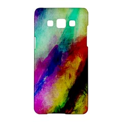 Colorful Abstract Paint Splats Background Samsung Galaxy A5 Hardshell Case