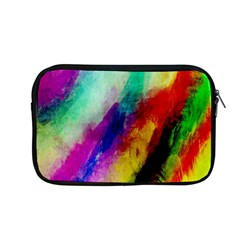 Colorful Abstract Paint Splats Background Apple Macbook Pro 13  Zipper Case by Simbadda