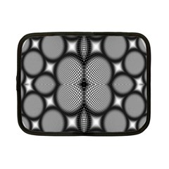 Mirror Of Black And White Fractal Texture Netbook Case (small)  by Simbadda