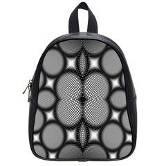 Mirror Of Black And White Fractal Texture School Bags (small)  by Simbadda