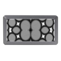 Mirror Of Black And White Fractal Texture Memory Card Reader (mini) by Simbadda