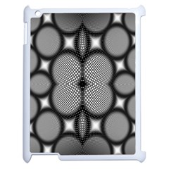 Mirror Of Black And White Fractal Texture Apple Ipad 2 Case (white) by Simbadda