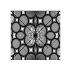 Mirror Of Black And White Fractal Texture Acrylic Tangram Puzzle (4  X 4 ) by Simbadda