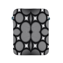 Mirror Of Black And White Fractal Texture Apple Ipad 2/3/4 Protective Soft Cases by Simbadda