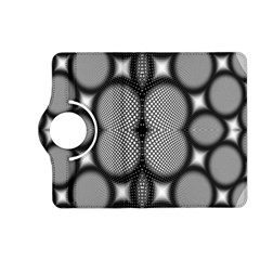Mirror Of Black And White Fractal Texture Kindle Fire Hd (2013) Flip 360 Case by Simbadda