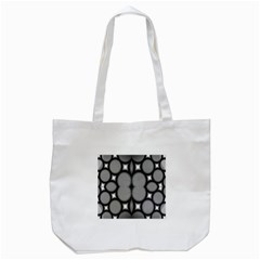 Mirror Of Black And White Fractal Texture Tote Bag (white) by Simbadda