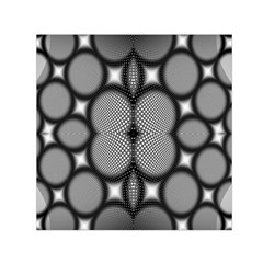 Mirror Of Black And White Fractal Texture Small Satin Scarf (square) by Simbadda