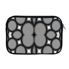 Mirror Of Black And White Fractal Texture Apple Macbook Pro 17  Zipper Case by Simbadda