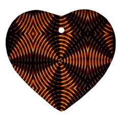Fractal Pattern Of Fire Color Ornament (heart) by Simbadda