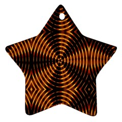Fractal Pattern Of Fire Color Ornament (star) by Simbadda