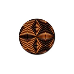 Fractal Pattern Of Fire Color Golf Ball Marker (4 Pack) by Simbadda