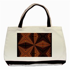 Fractal Pattern Of Fire Color Basic Tote Bag by Simbadda