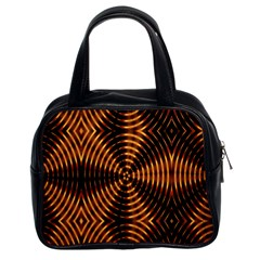 Fractal Pattern Of Fire Color Classic Handbags (2 Sides) by Simbadda