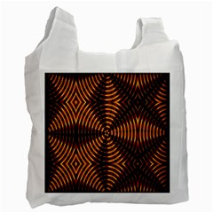 Fractal Pattern Of Fire Color Recycle Bag (two Side)  by Simbadda