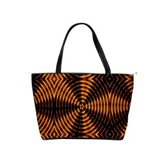 Fractal Pattern Of Fire Color Shoulder Handbags by Simbadda