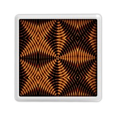 Fractal Pattern Of Fire Color Memory Card Reader (square)  by Simbadda