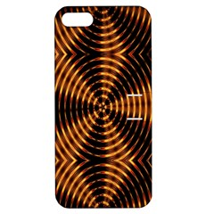Fractal Pattern Of Fire Color Apple Iphone 5 Hardshell Case With Stand by Simbadda