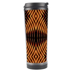 Fractal Pattern Of Fire Color Travel Tumbler by Simbadda
