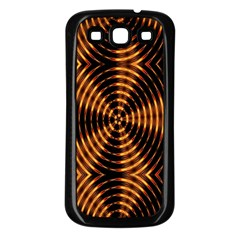 Fractal Pattern Of Fire Color Samsung Galaxy S3 Back Case (black) by Simbadda