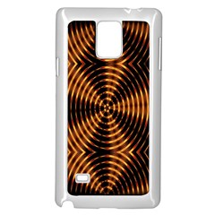Fractal Pattern Of Fire Color Samsung Galaxy Note 4 Case (white) by Simbadda