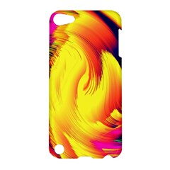 Stormy Yellow Wave Abstract Paintwork Apple Ipod Touch 5 Hardshell Case by Simbadda