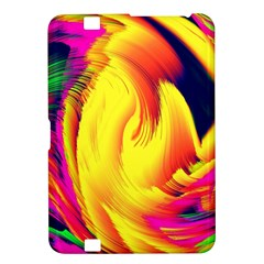 Stormy Yellow Wave Abstract Paintwork Kindle Fire Hd 8 9  by Simbadda