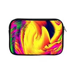 Stormy Yellow Wave Abstract Paintwork Apple Ipad Mini Zipper Cases by Simbadda