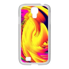 Stormy Yellow Wave Abstract Paintwork Samsung Galaxy S4 I9500/ I9505 Case (white) by Simbadda
