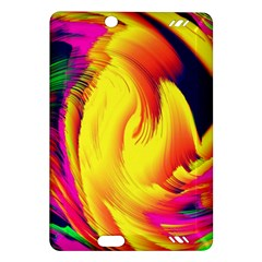 Stormy Yellow Wave Abstract Paintwork Amazon Kindle Fire Hd (2013) Hardshell Case by Simbadda