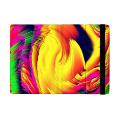 Stormy Yellow Wave Abstract Paintwork Ipad Mini 2 Flip Cases by Simbadda