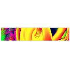 Stormy Yellow Wave Abstract Paintwork Flano Scarf (large) by Simbadda
