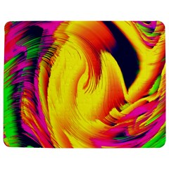 Stormy Yellow Wave Abstract Paintwork Jigsaw Puzzle Photo Stand (rectangular) by Simbadda
