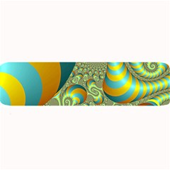 Gold Blue Fractal Worms Background Large Bar Mats by Simbadda