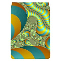 Gold Blue Fractal Worms Background Flap Covers (s)  by Simbadda