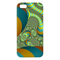 Gold Blue Fractal Worms Background Iphone 5s/ Se Premium Hardshell Case