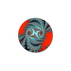 Digital Fractal Pattern Golf Ball Marker (10 Pack) by Simbadda