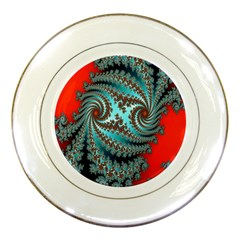 Digital Fractal Pattern Porcelain Plates by Simbadda