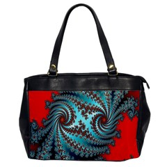 Digital Fractal Pattern Office Handbags by Simbadda
