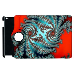 Digital Fractal Pattern Apple Ipad 3/4 Flip 360 Case by Simbadda