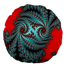 Digital Fractal Pattern Large 18  Premium Flano Round Cushions by Simbadda