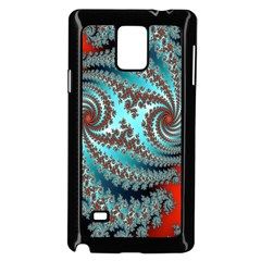 Digital Fractal Pattern Samsung Galaxy Note 4 Case (black) by Simbadda