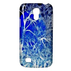 Winter Blue Moon Fractal Forest Background Galaxy S4 Mini by Simbadda
