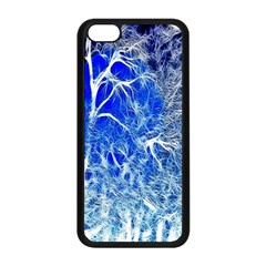 Winter Blue Moon Fractal Forest Background Apple Iphone 5c Seamless Case (black) by Simbadda