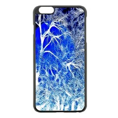 Winter Blue Moon Fractal Forest Background Apple Iphone 6 Plus/6s Plus Black Enamel Case by Simbadda