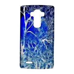 Winter Blue Moon Fractal Forest Background Lg G4 Hardshell Case by Simbadda