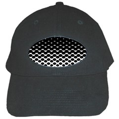 Halftone Gradient Pattern Black Cap by Simbadda