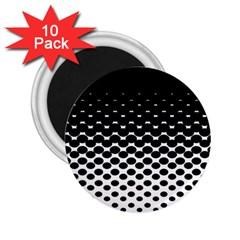 Halftone Gradient Pattern 2 25  Magnets (10 Pack)  by Simbadda