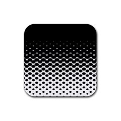 Halftone Gradient Pattern Rubber Square Coaster (4 Pack)  by Simbadda
